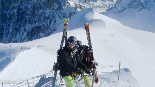 stage de ski hors piste à Chamonix